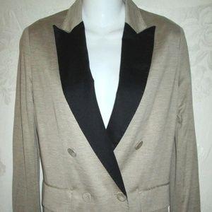 New PHILIP LIM 3.1 Beige & Black Tux Blazer XS